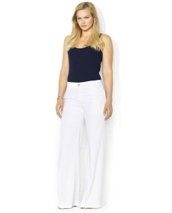 RL White Wide Silk pants