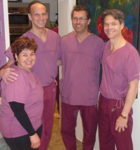 Catherine, Dr Joe Dayan, Dr Stefan Rapprich & Dr Mark Smith - the McDreamys for sure!