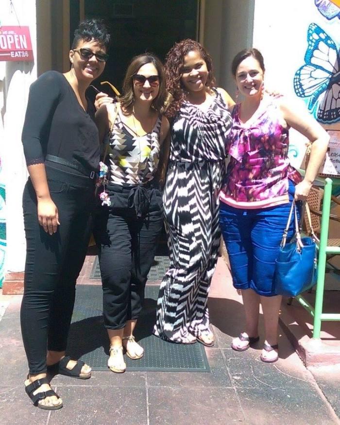 (A few of my new Lip Lady friends!!! L to R: Briana Garrott, Emily Rubin, Crystal